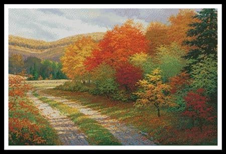 A Bend in the Road by Artecy printed cross stitch chart